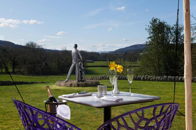 Fantastic views from the champagne and seafood terrace. Image: Devonshire Hotels