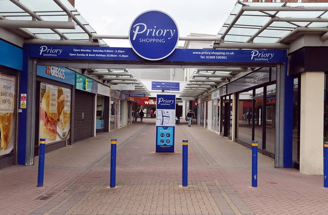 The shopping centre was deserted just a few days into lockdown