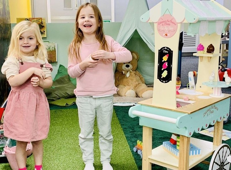 Children were delighted to explore My Playfyl World the new imaginative play centre in Tuxford.