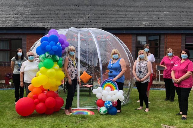 The dome, which will be onsite for a few months, is based in the Rainbow Memorial Garden which was created in September 2020 to remember all those sadly lost to Covid-19.