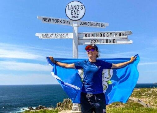 Vicky ran the length of Britain for Dementia UK.
