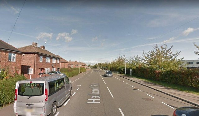Hallcroft Road in Retford.
