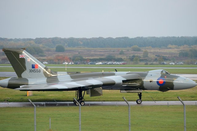 The iconic Vulcan bomber at Doncaster.