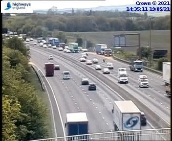 A vehicle has caught fire between Junction 30 and 31 on the M1 northbound, near Chesterfield.