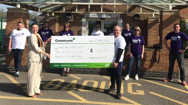 The team raised more than £3,500.