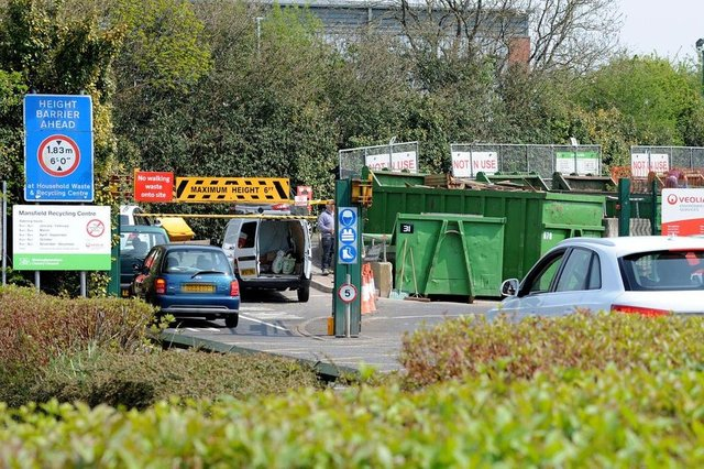 The county's 12 recycling centres remain open but only for items that can not be stored safely at home until after lockdown ends.