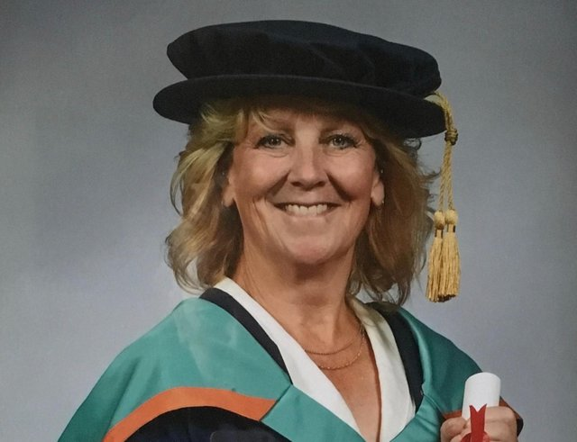 Director and SMART Saddle designer, Dr Anne Bondi, graduating with her PhD in horse, saddle and rider interaction.