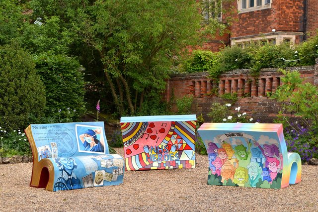BookBenches which will be installed around Bassetlaw