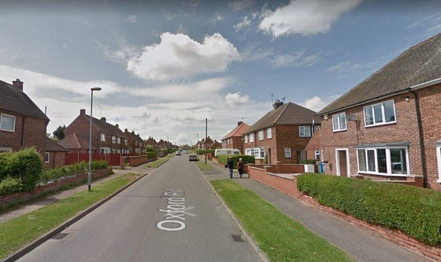 The incident happened on Oxford Road in Carlton-in-Lindrick.