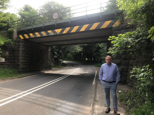 Mark Fletcher MP at Darfoulds Bridge.