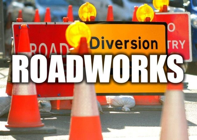 The roadworks may cause slight delays.