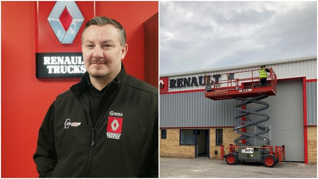 (Left) Chris Turner, dealer point manager (Right) The new Tuxford site is gearing up to open in May.