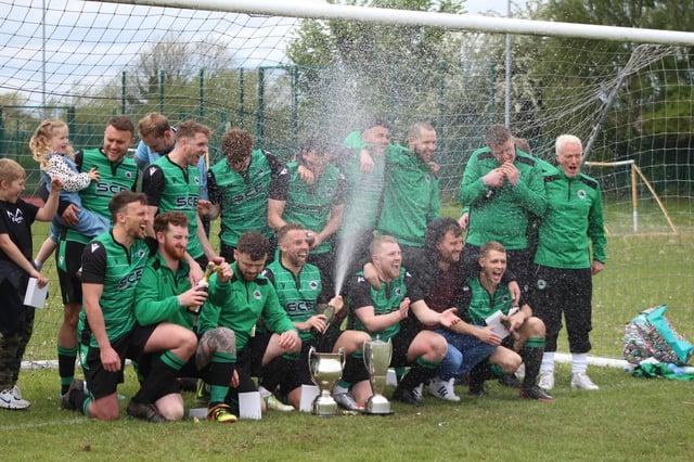 Greendale Oak celebrate  their double