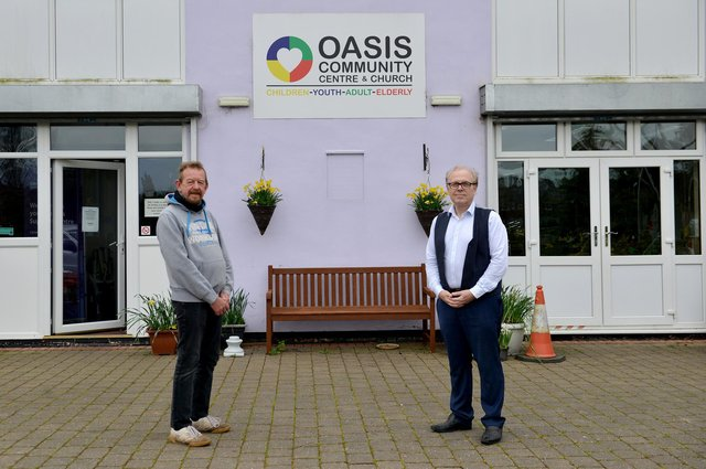 Oasis Community Centre and Church have won Best UK Social Prescribing Project at the Social Prescribing UK awards, pictured from left are volunteer gardener Mark Evans and Church pastor and centre manager Steve Williams