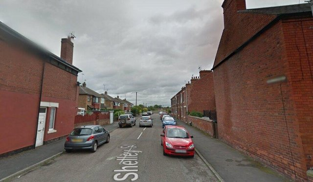 The emergency services were called to Shelley Street, Worksop.