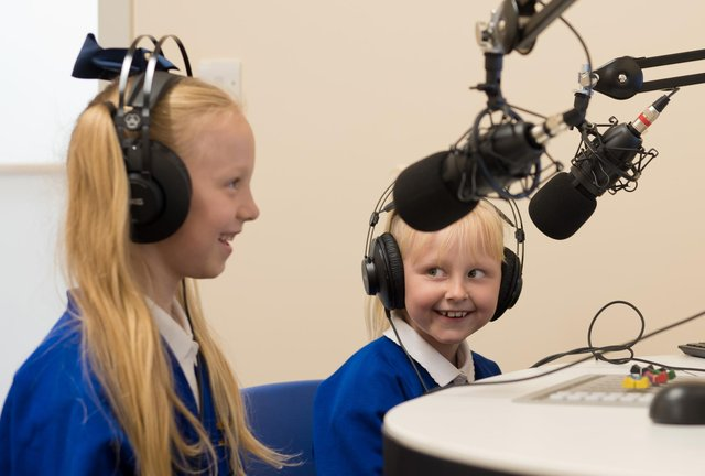 Outside of weekly lessons children also run a school radio station.