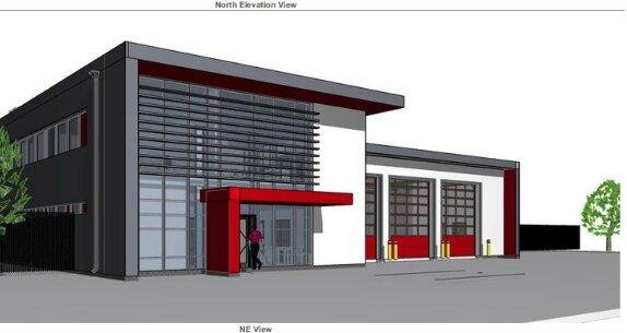 An artist's impression of the new station, which has been designed to generate around 50 per cent of its energy.