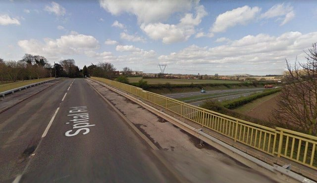 Spital Road/Blyth Flyover Bridge.