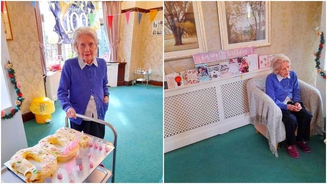 Joyce Milnes turned a century old on Saturday, April 3.