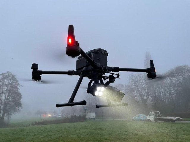 The force's newest drone was able to identify a single human heat source