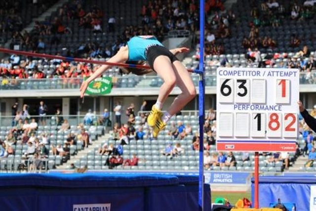 Worksop Harrier Emily Race(20) is currently ranked number one at regional and county level, and third nationally, in the heptathlon.