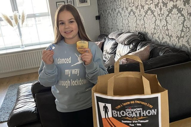 Pupils were given a blogathon pack for the event