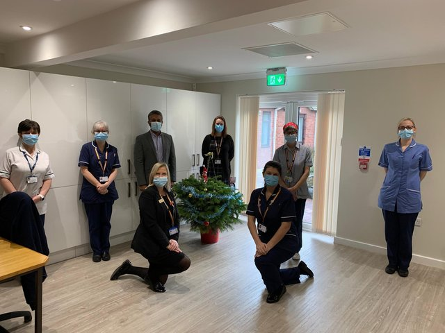 Staff pictured at Bassetlaw Hospice.
