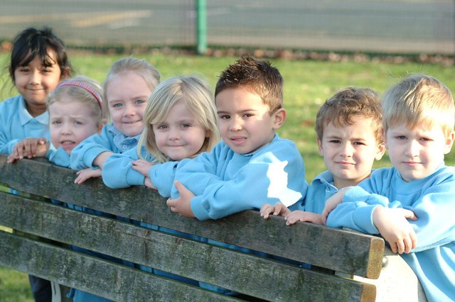 Pupils from St Anne's C of E Primary School, Worksop, in 2009.