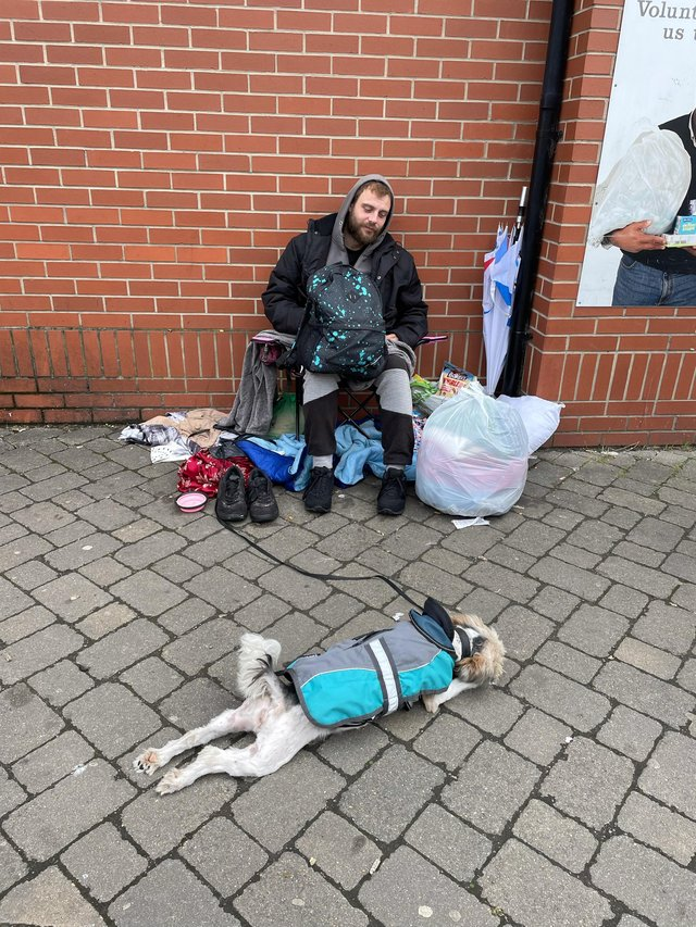 Jay and his dog Lilly have been given support in finding a new home thanks to Worksop residents.