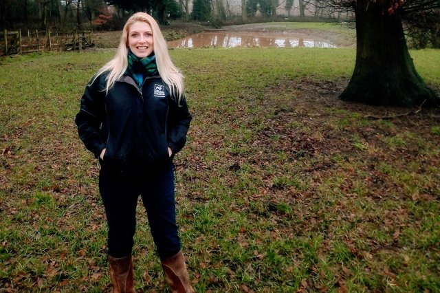 Lisa Channing, Nottinghamshire Wildlife Trust's recently appointed farming and wildlife project officer.