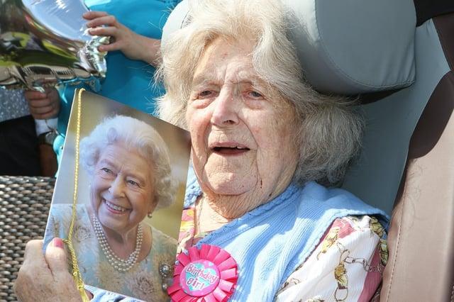 Minnie Rudderham celebrates her 105th birthday