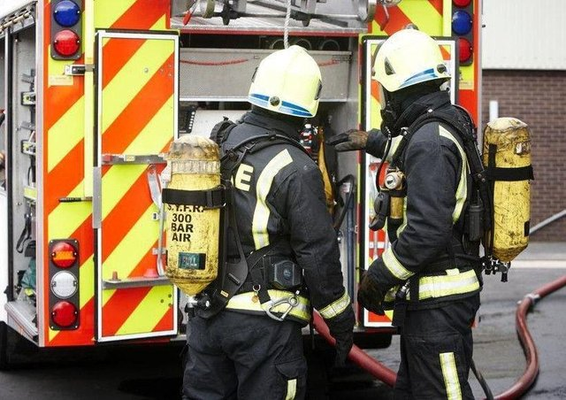 The fire is believed to have been started deliberately.