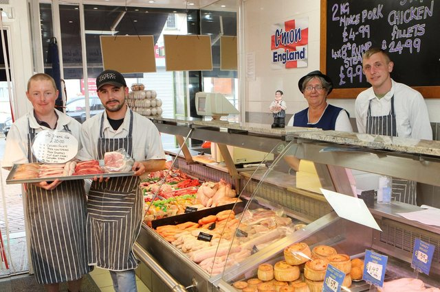 Some of the team at Worksop Butchers.
