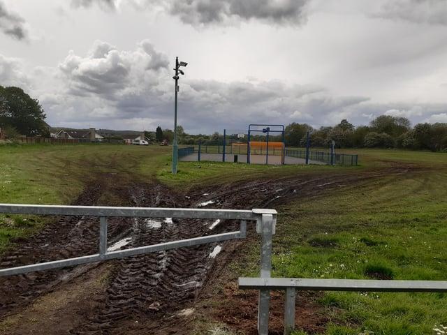 Farr Park, in Worksop, after travellers left.