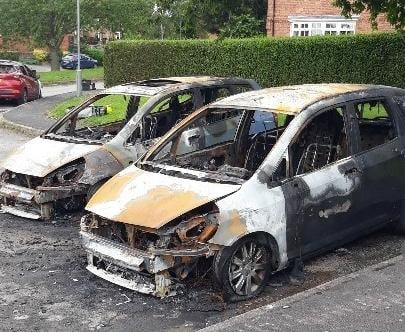 The aftermath of the fires on Main Street, in Bothamsall near Retford at around 1.15am on July 13.
