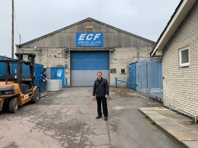 Peter Elliot, CEO at ECF Special Alloys, which is based at Carlton in Lindrick.