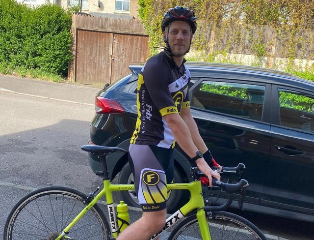 Adrian Hopkinson is taking on 26 duathlons in 26 days