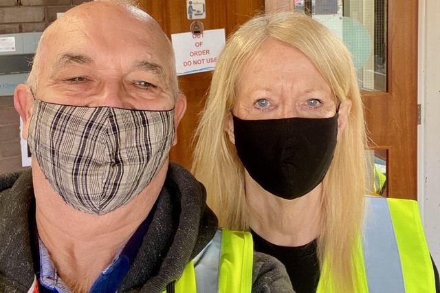 Jim and Ruth Van Ham, who have volunteered at the vaccination centres at Larwood Surgery and Retford Hospital, are both retired and said volunteering has been a distraction as well as a way to 'do a little good' in the community during lockdown.