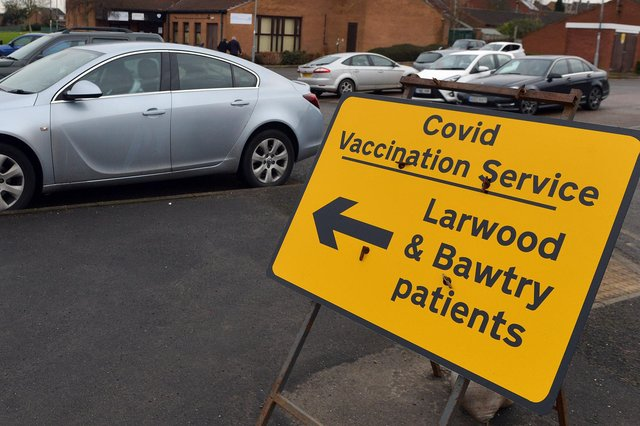 More than two-thirds of people in Bassetlaw have been fully vaccinated against Covid-19.