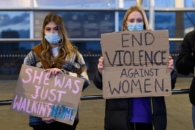 Women across Britain held vigils in memory of Sarah Everard and to call for an end to violence against women. Photo: Polly Thomas/Getty Images